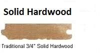 2 1/4 Solid Hardwood