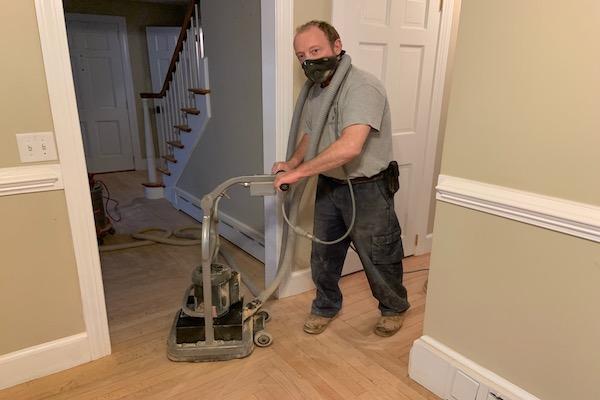 U Sand machine for sanding to perfection hardwood floors